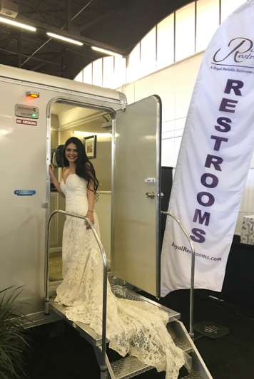 wedding rental bathroom